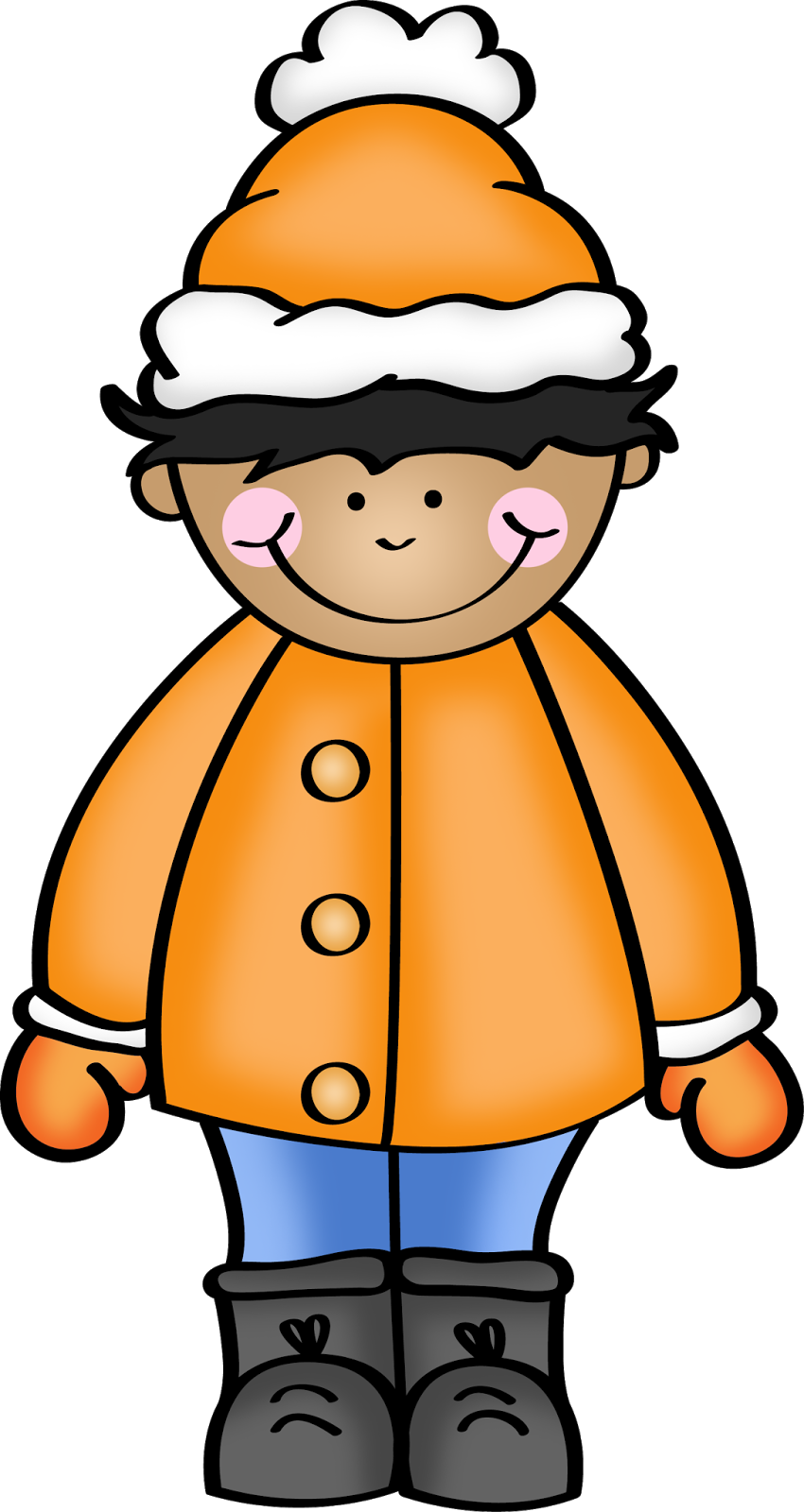 Mittens clipart coat. November happiness is watermelon