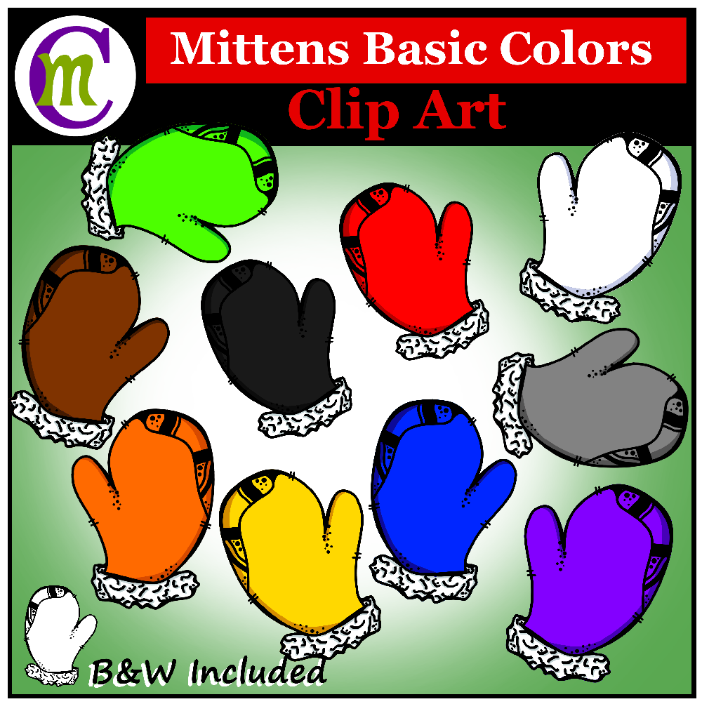 Mittens clipart colored. This winter clip art