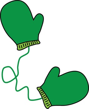 Free pictures clipartix . Mittens clipart green