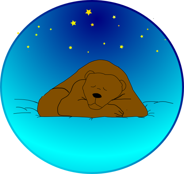 Mittens clipart large. Bear sleeping under the