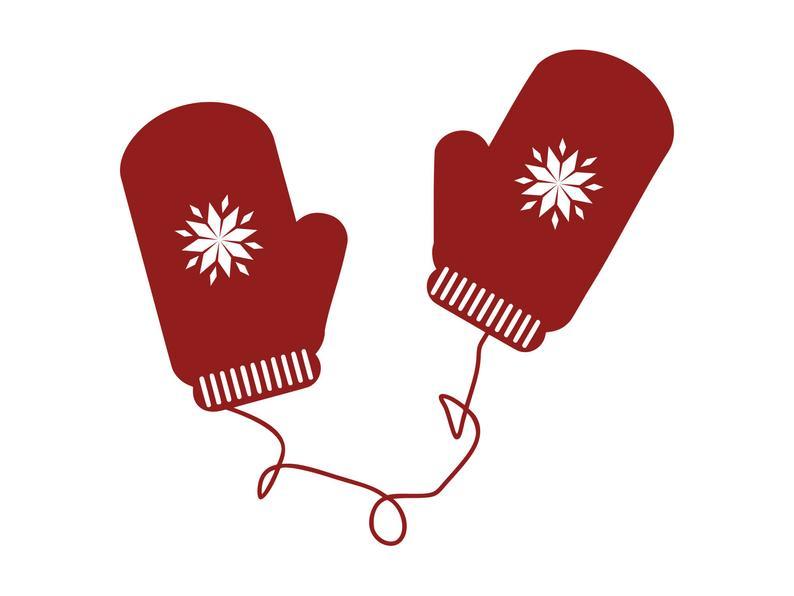 Mittens clipart mittons. Svg gloves silhouette png