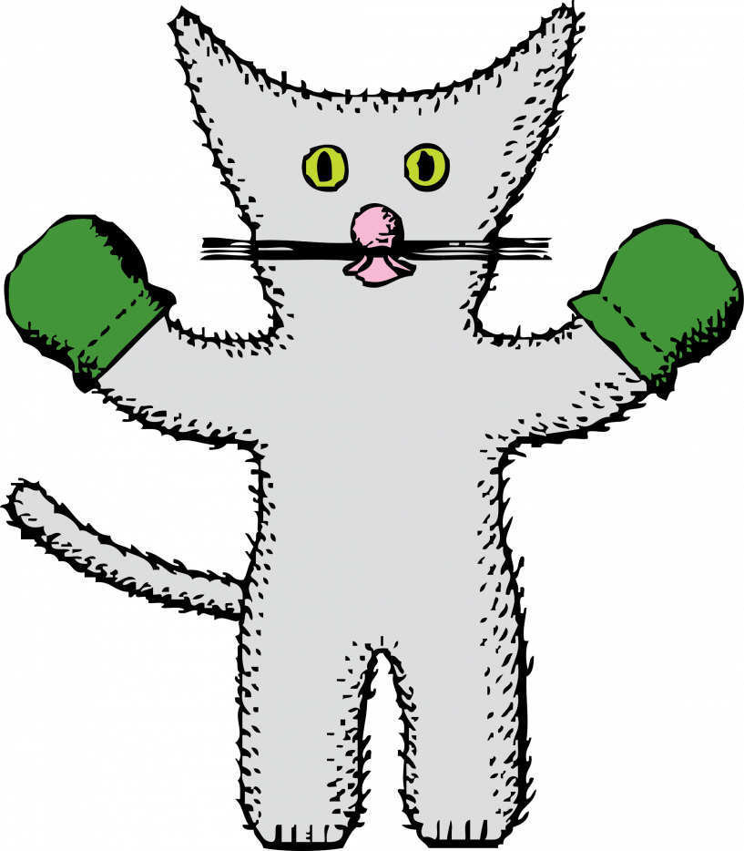 Kitten with jokingart com. Mittens clipart printable