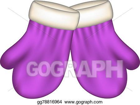 Mittens clipart purple. Eps illustration winter in