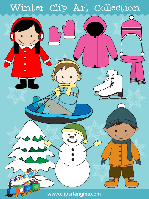 Mittens clipart season dress. Vector graphics include a