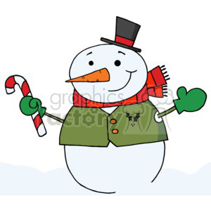 Mittens clipart snowman. Wearing a red scarf