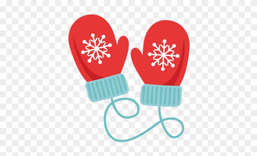 Mittens clipart svg. Winter scrapbook cut file
