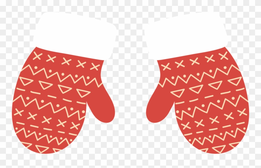 Gloves christmas cartoon transparent. Mittens clipart warm glove
