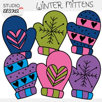 Mittens clipart winter thing. Studio elska