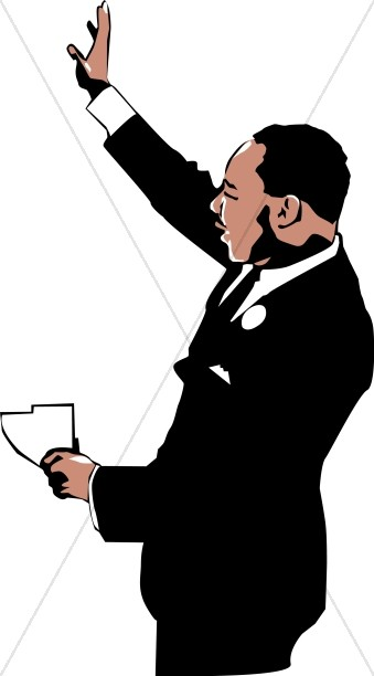 Mlk clipart. Jr waving to the