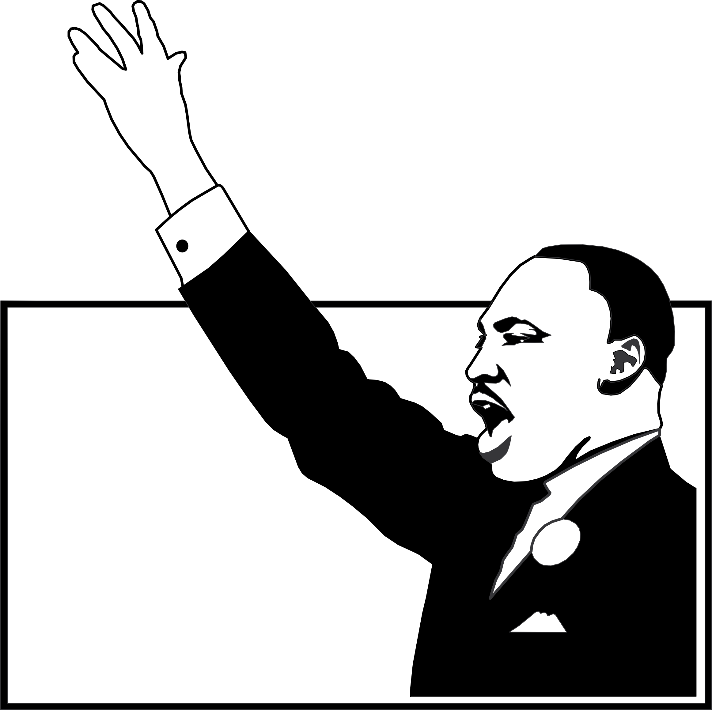 Mlk clipart black and white. Martin luther king big