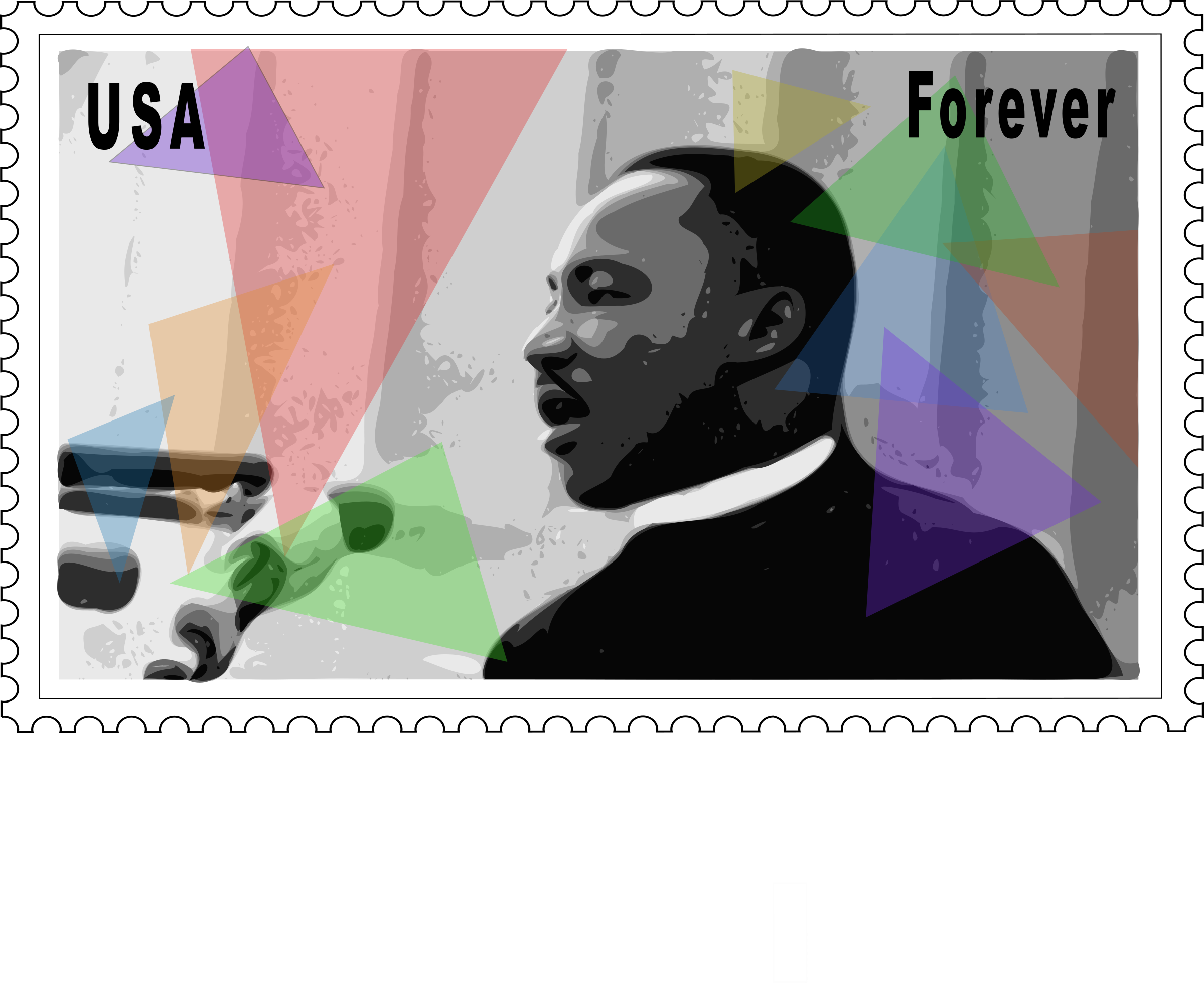Clipart - Martin Luther King Jr. Stamp | Black History | Pinterest ...
