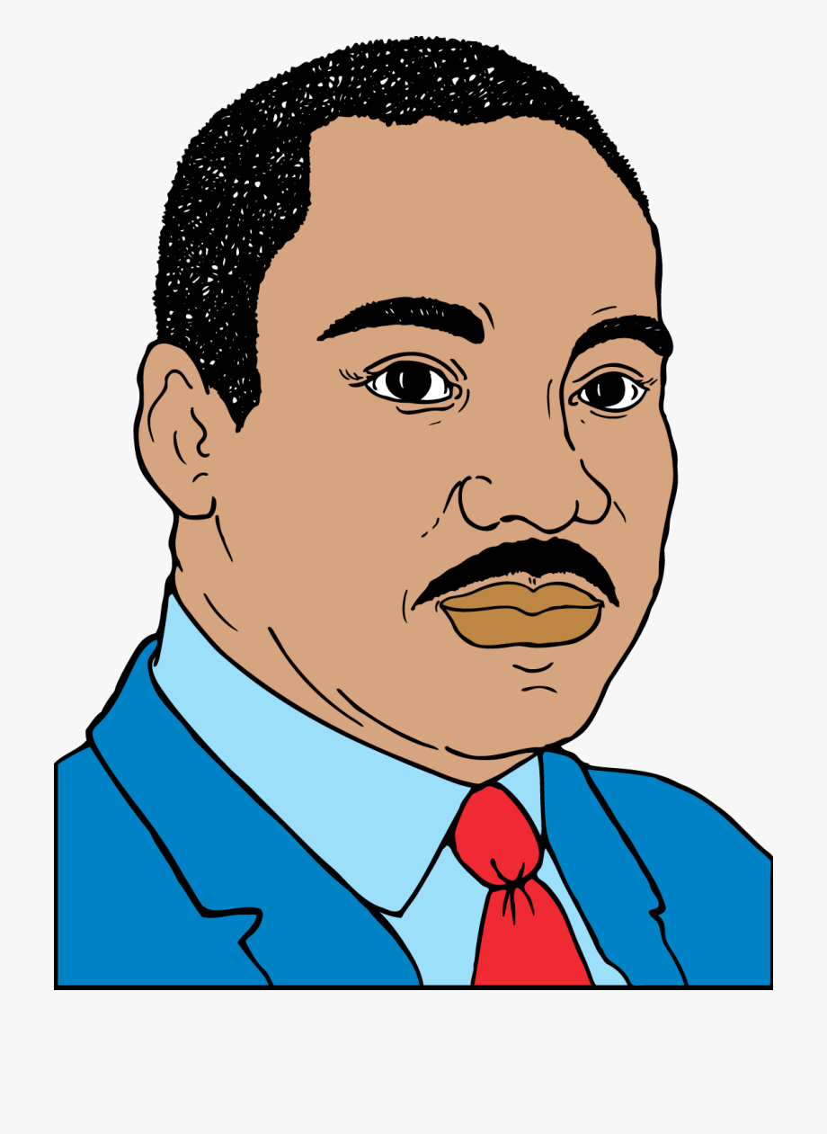 Mlk clipart cartoon version. Martin luther king junior