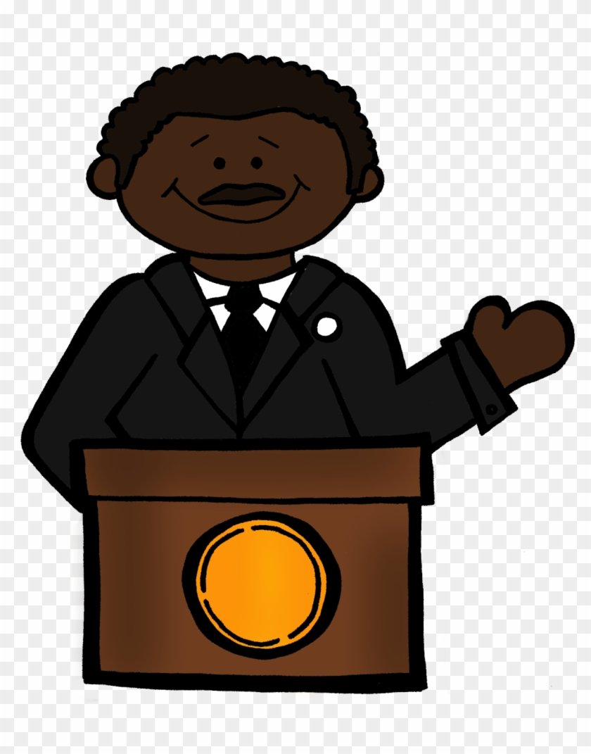 Mlk clipart cartoon version. Dr martin luther king
