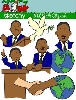Martin luther king jr. Mlk clipart community resource