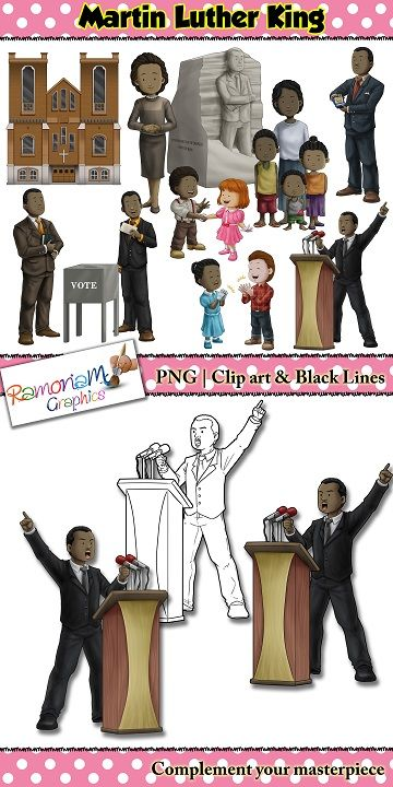 Martin luther king clip. Mlk clipart community resource