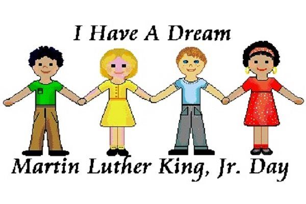 Martin luther king day. Mlk clipart happy