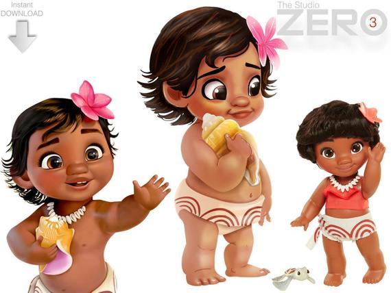 disney digital n. Moana clipart animated baby