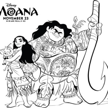 moana clipart coloring