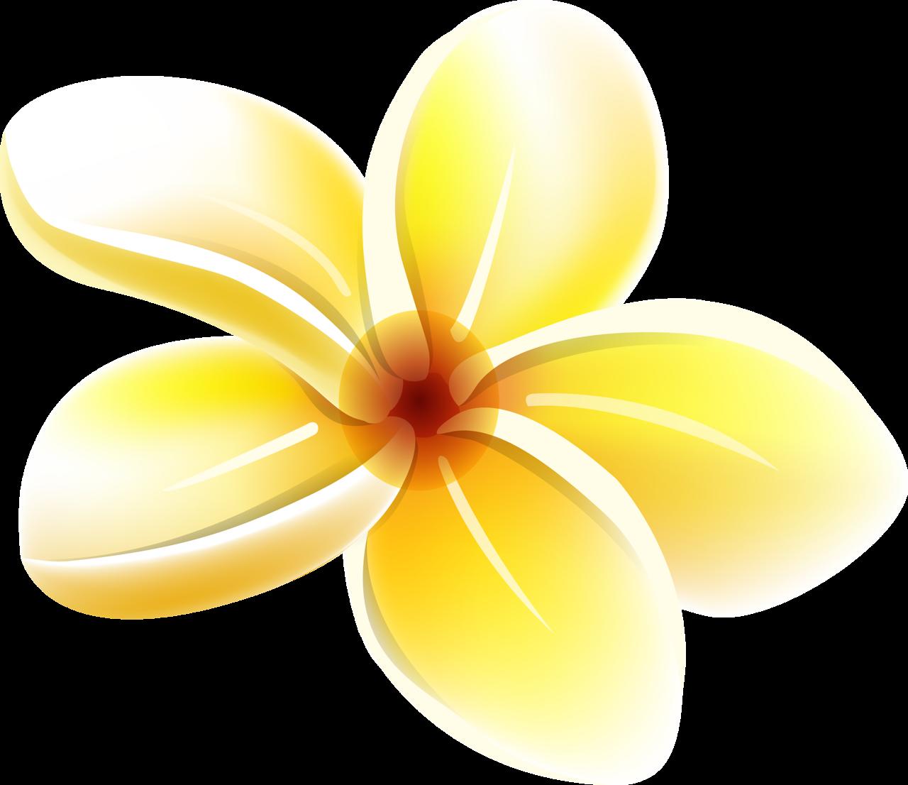 Yellow clip art transprent. Moana clipart flower