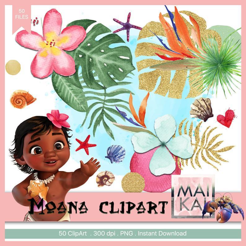 Moana clipart korean flower. Love clip art elements