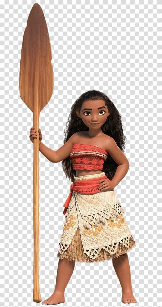 Disney illustration standing transparent. Moana clipart oar