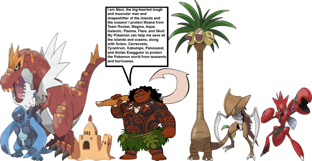 Moana clipart organism. Maui s pokemon team