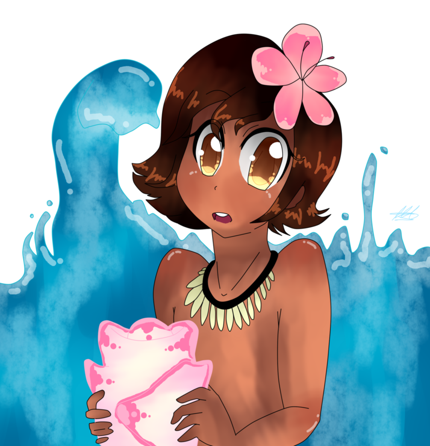 Moana clipart shell. And her pink by
