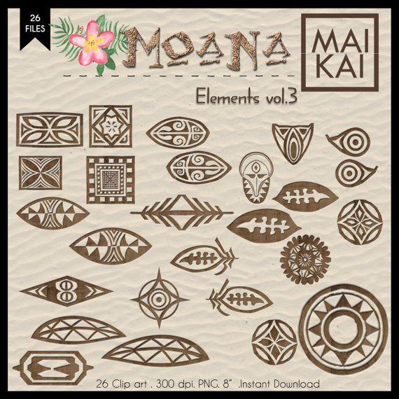 Maui tattoo invitation . Moana clipart symbol