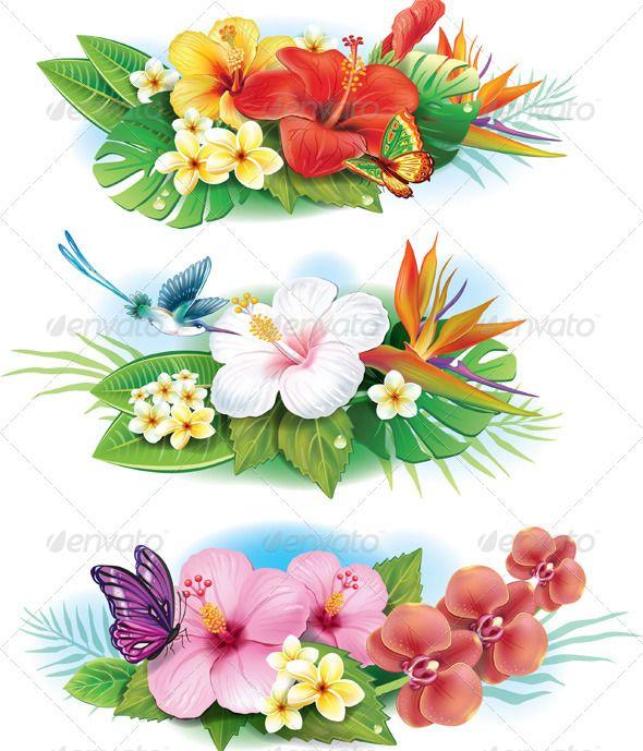 Moana clipart tropical plant. Arrangement of flowers plants