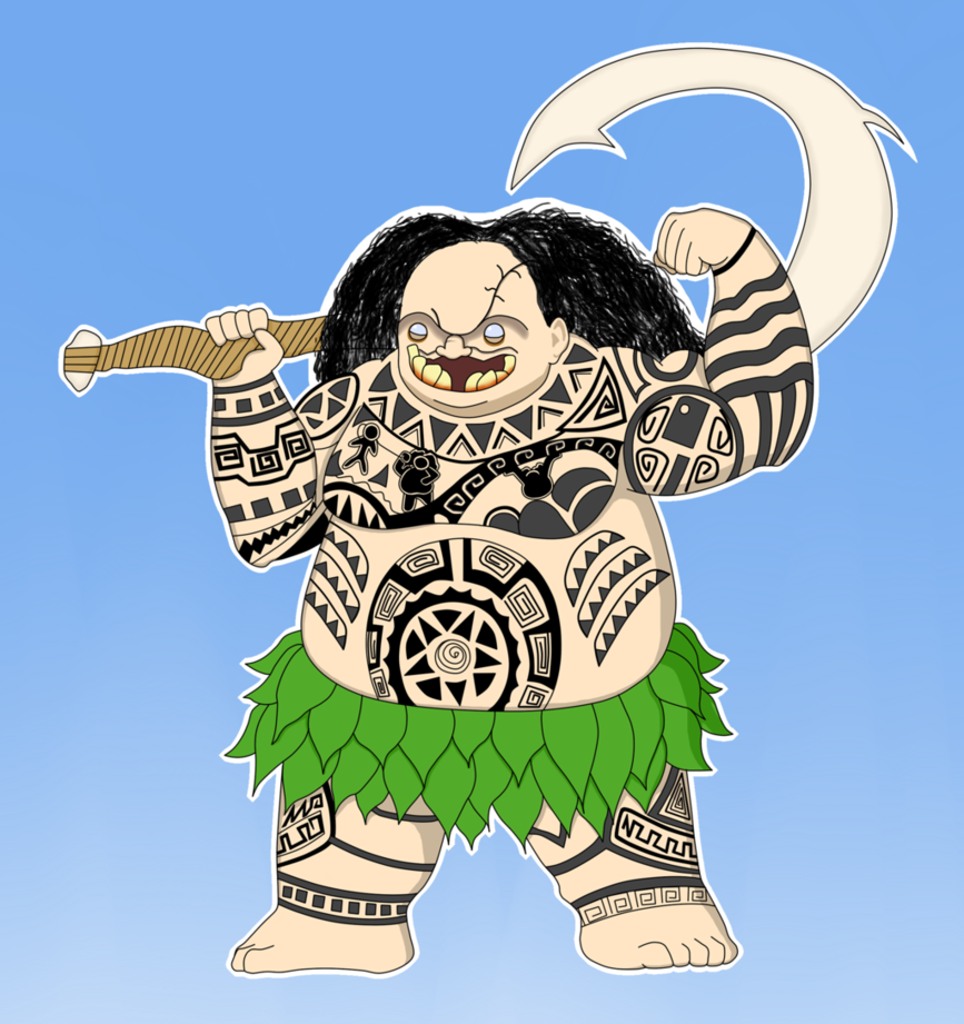 Maui by mashoart on. Moana clipart vector