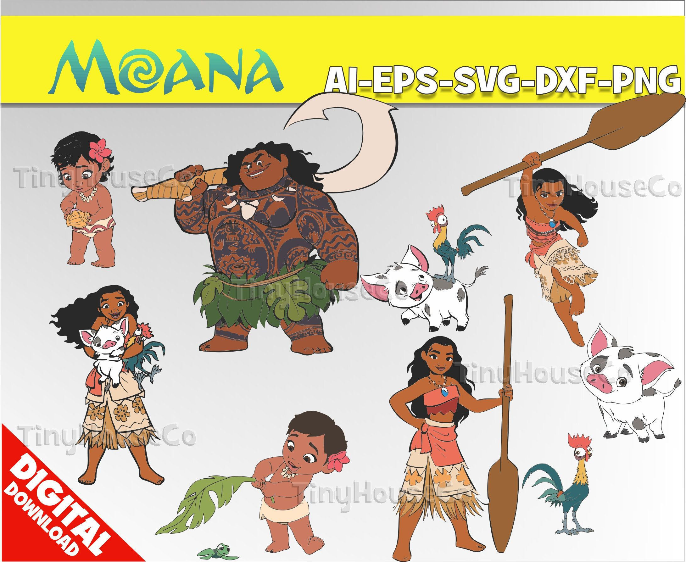 Moana clipart vector. Svg png party birthday