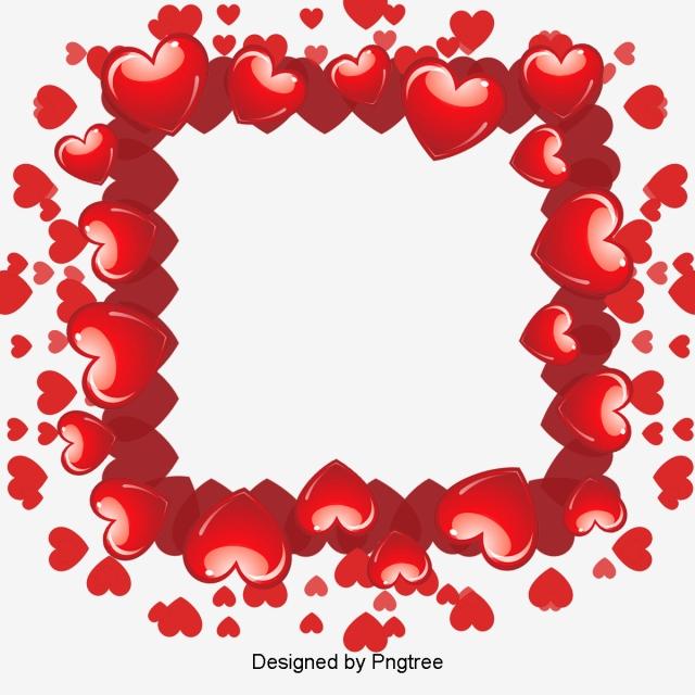 Moldura coração. Em forma de cora