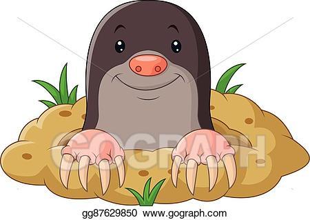 Mole clipart. Eps vector cartoon funny