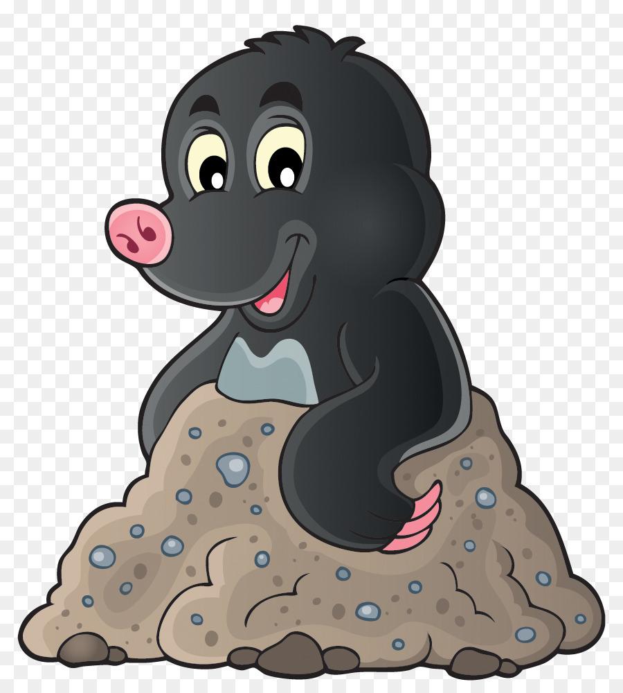European royalty free clip. Mole clipart