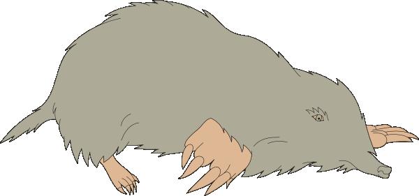 Mole clipart. Gray clip art at