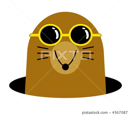 Mole clipart. Clip art stock illustration