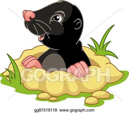 Vector art drawing gg. Mole clipart
