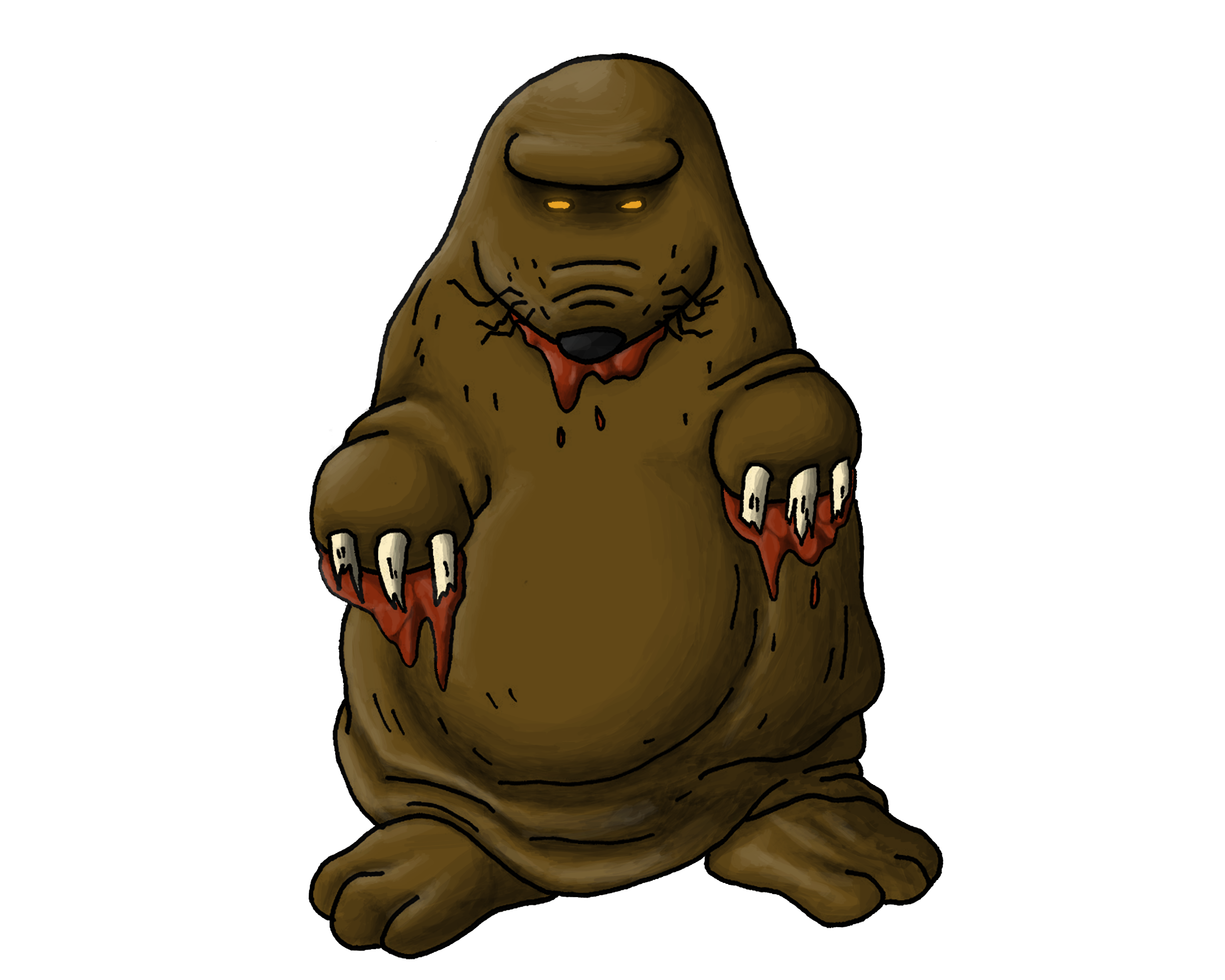 Mole clipart earthbound. Mother art october collection