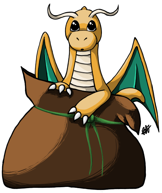Bag of dragonite by. Mole clipart earthbound