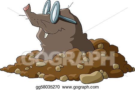 Mole clipart mole hole. Vector art drawing gg