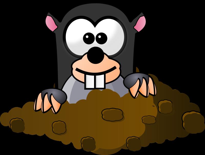 Groundhog clipart mole. Clip art free panda