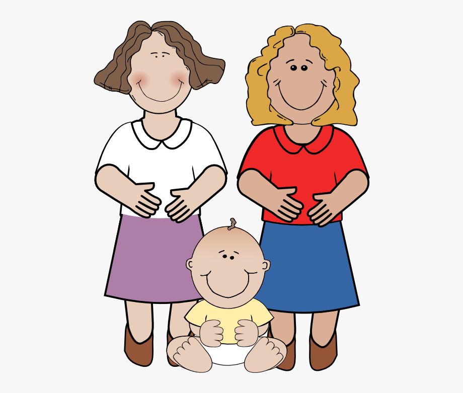 Kind lady mommy and. Young clipart aunt