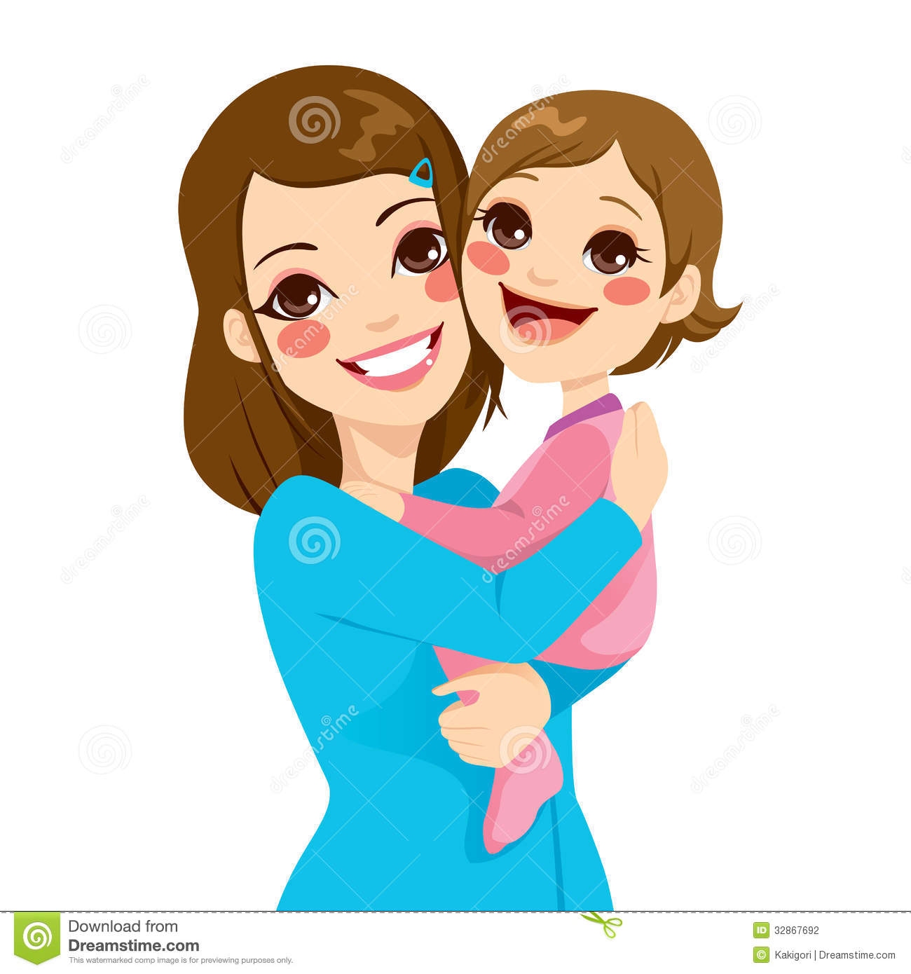 Mother clipart cute. Mom and baby free