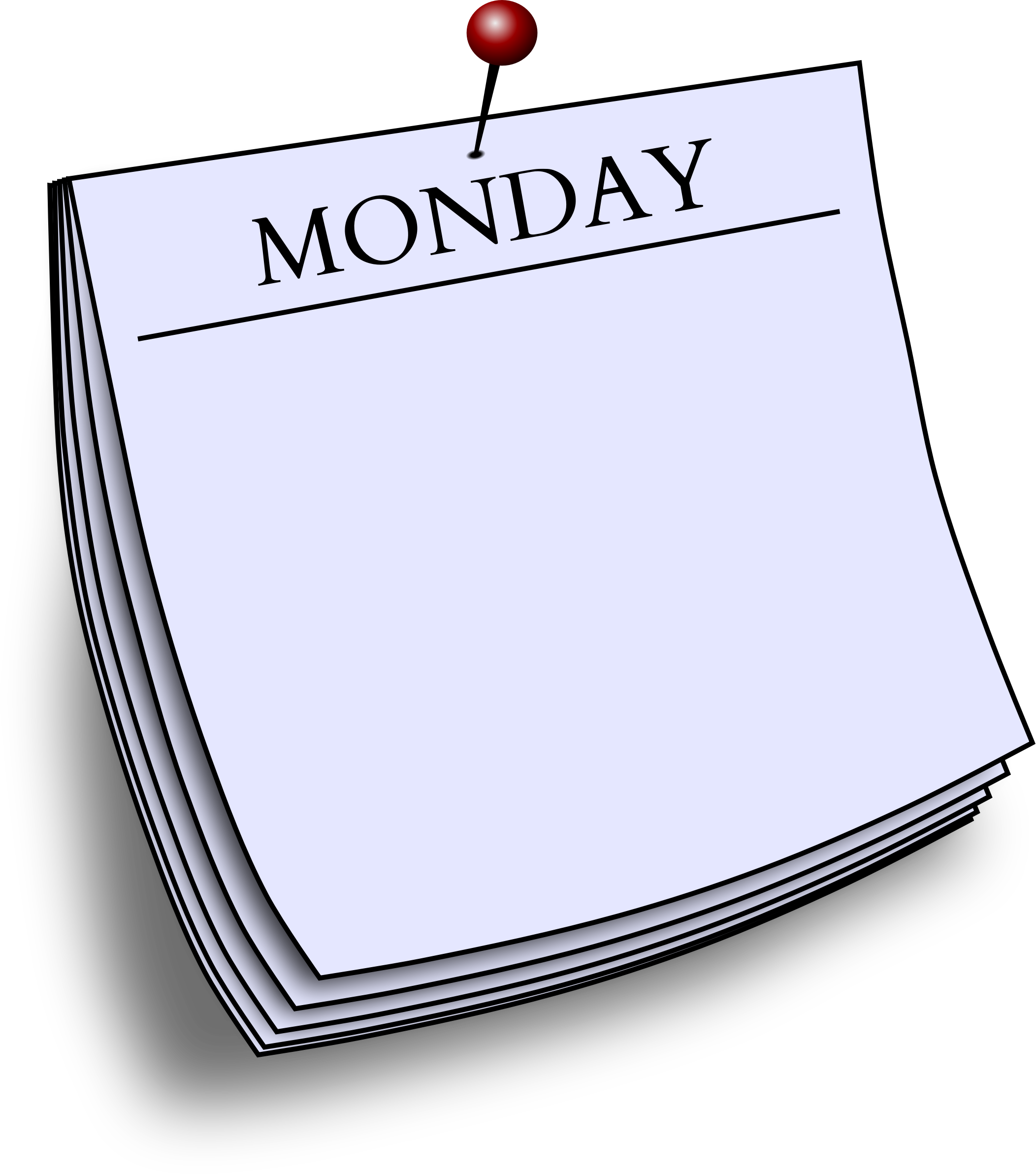 Daily note big image. Monday clipart