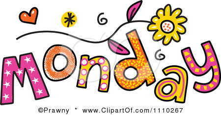Free . Monday clipart
