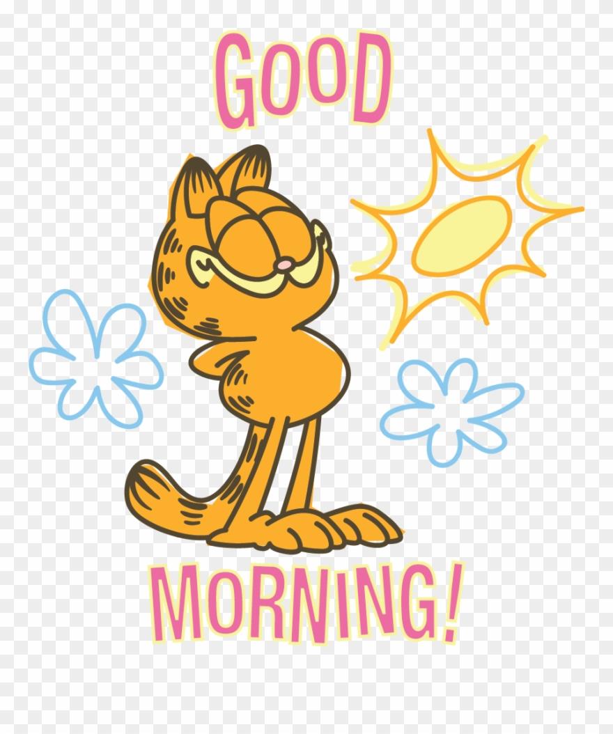 Garfield line messaging sticker. Morning clipart thursday morning