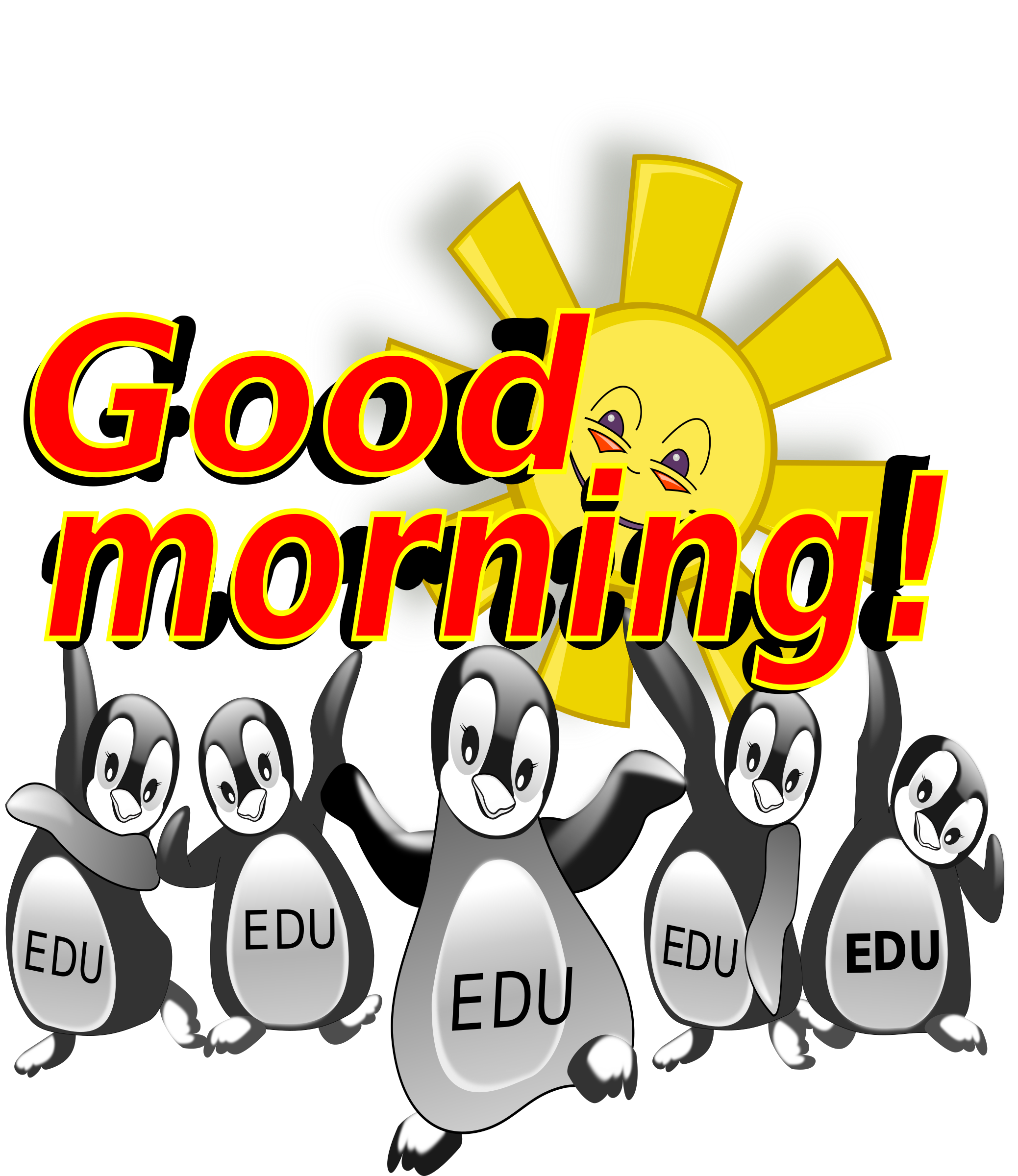 Wednesday clipart good morning. Penguin big image png
