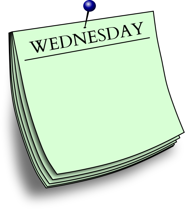 Daily note medium image. Wednesday clipart friday