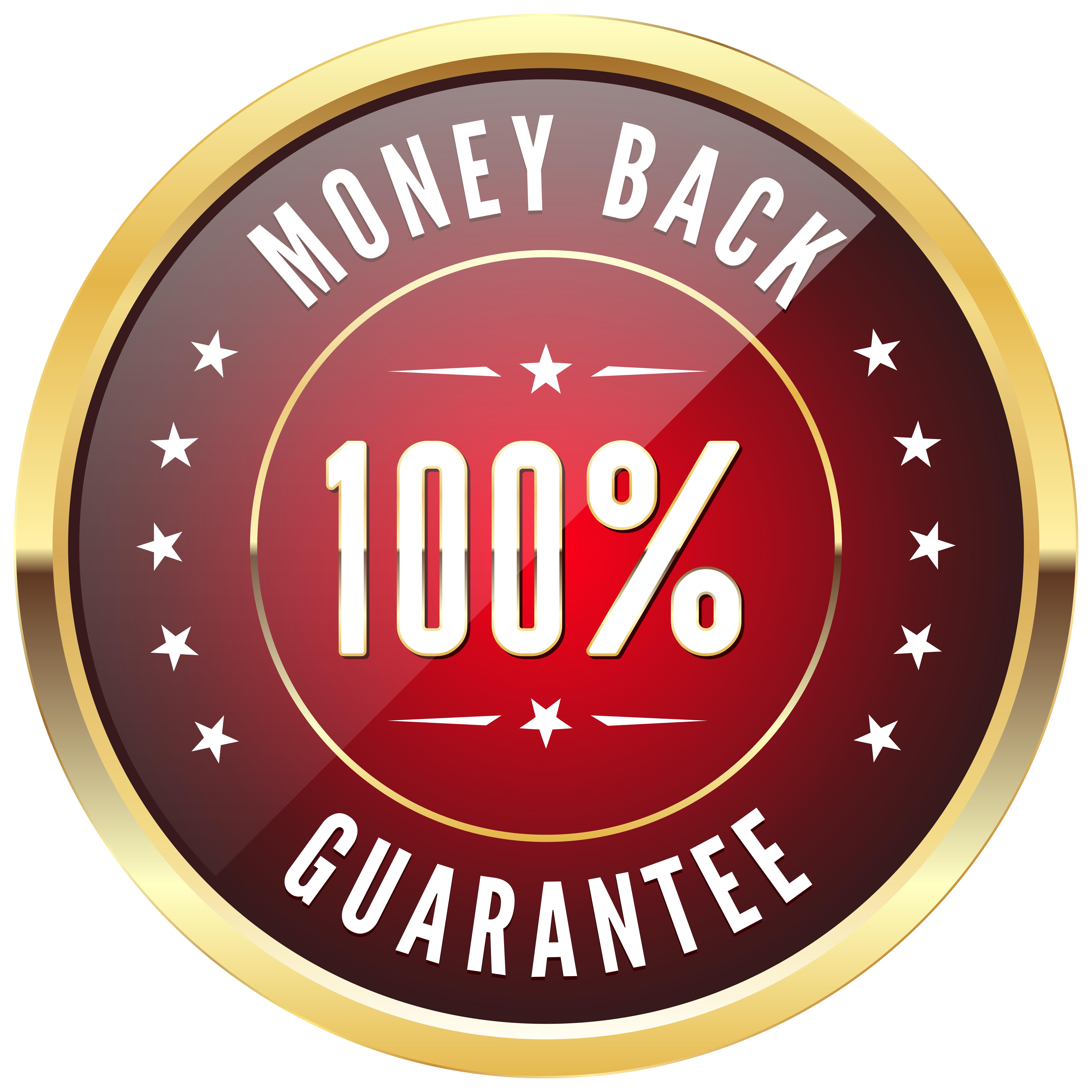 Money back png.  badge transparent clip