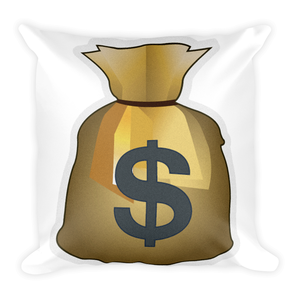 Pillow just. Money bag emoji png